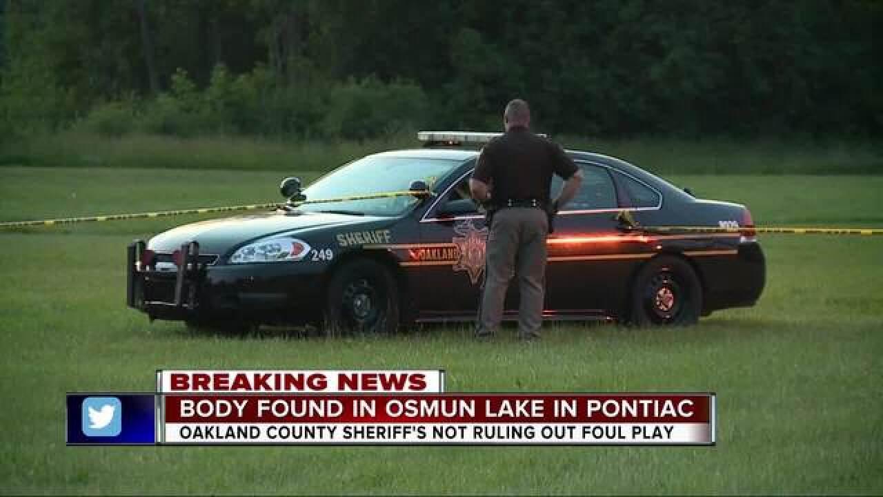 Police investigating body found in Pontiac's Osmun Lake