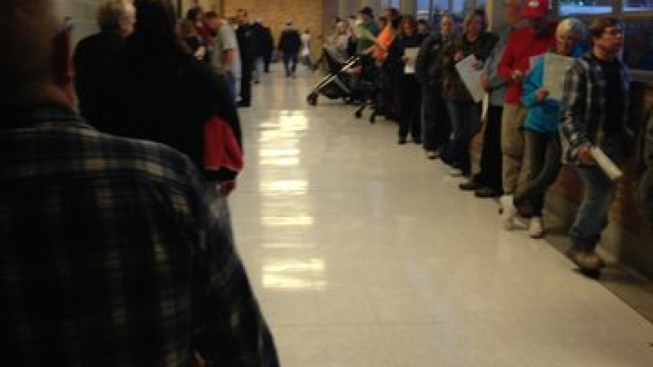 Massive Election Day lines reported across KC