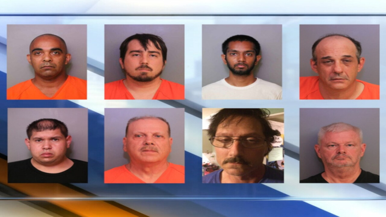 Polk County Sheriff's Office arrest 9 on child pornography