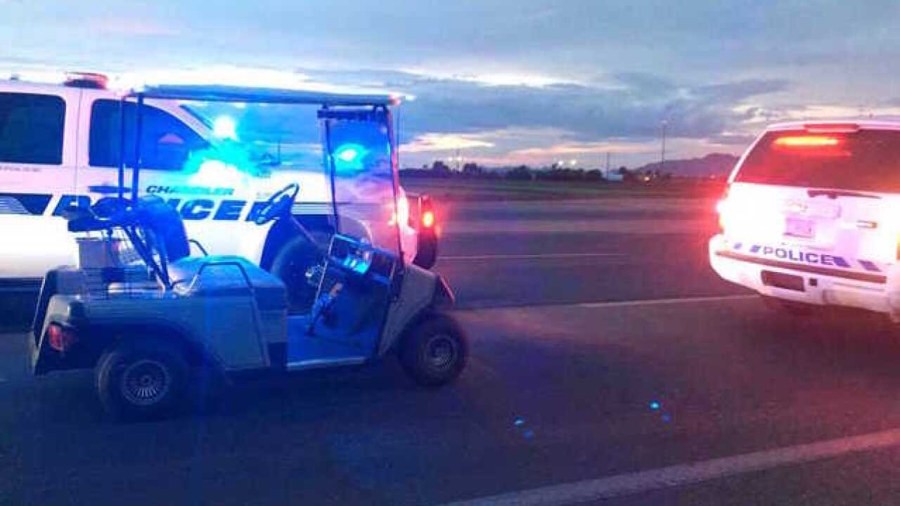 Golf cart stopped after L-202 wrong-way report