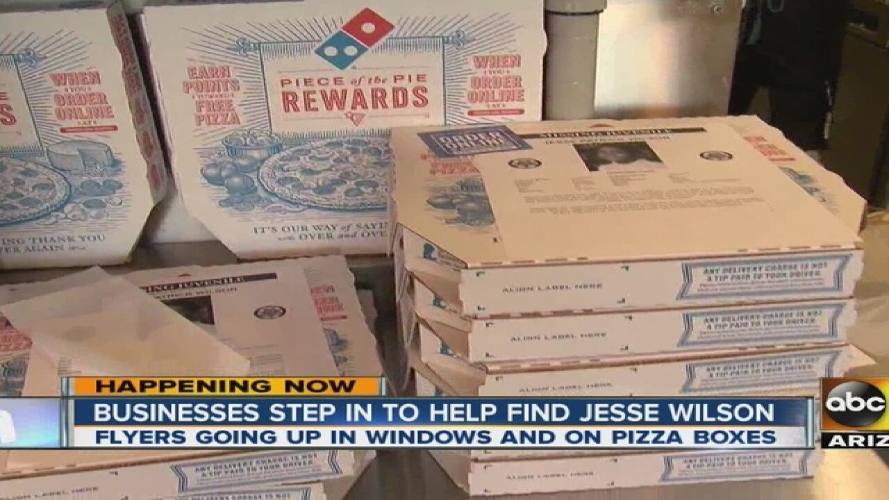 Buckeye Domino's delivers poster with pizza