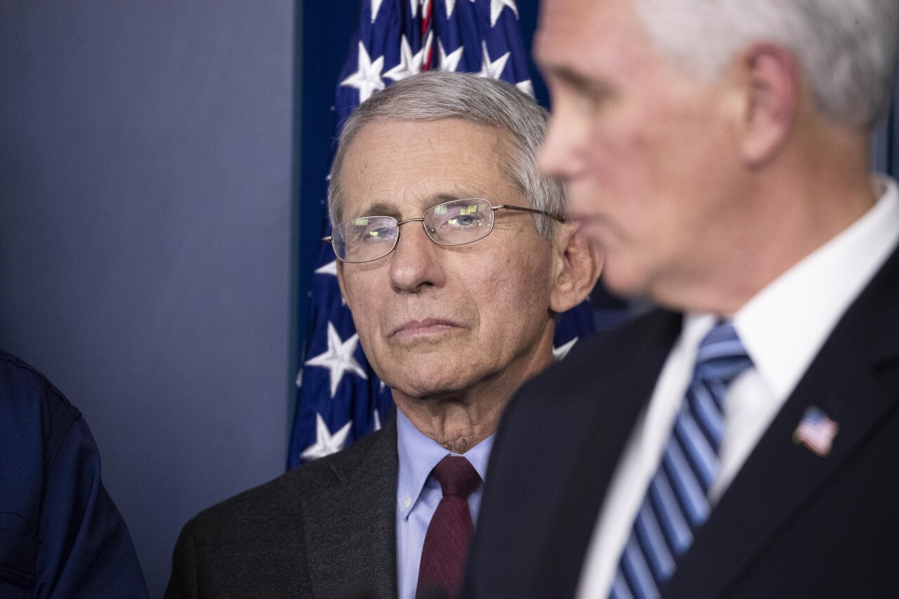 Anthony Fauci, Vice President Mike Pence