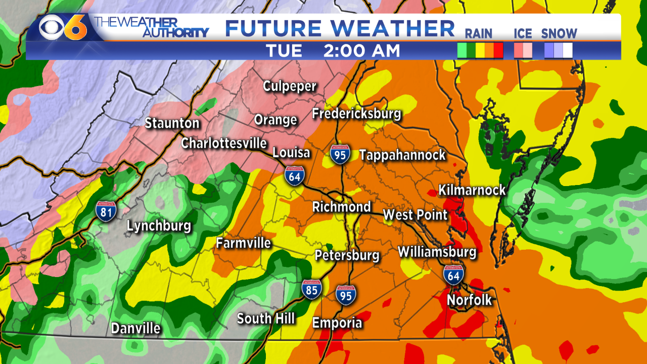 Virginia Winter Storm: Hour-by-hour forecast