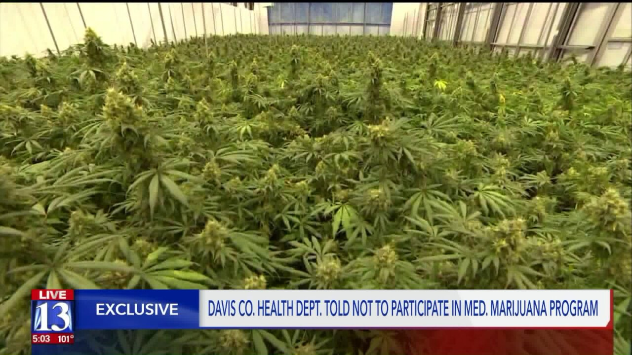 Davis Co. Attorney can't protect health department from the feds, so he's telling them not to hand out medicalcannabis
