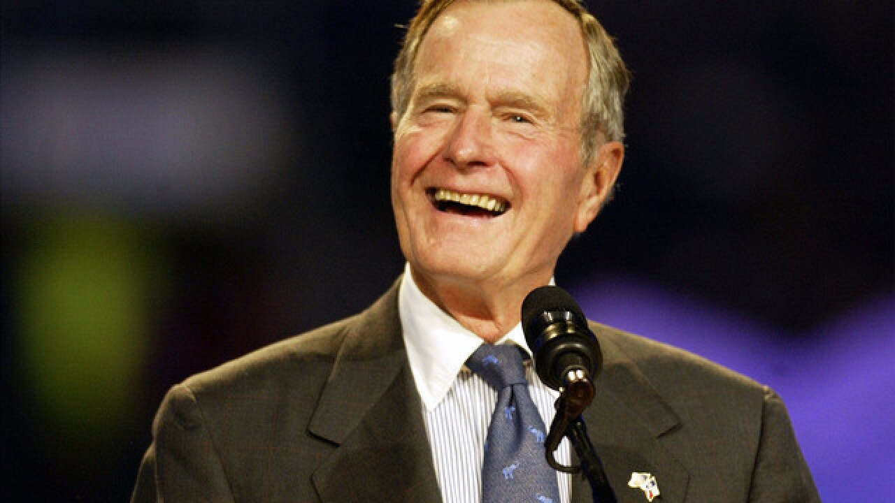 Presidents, others praise former President George H.W. Bush