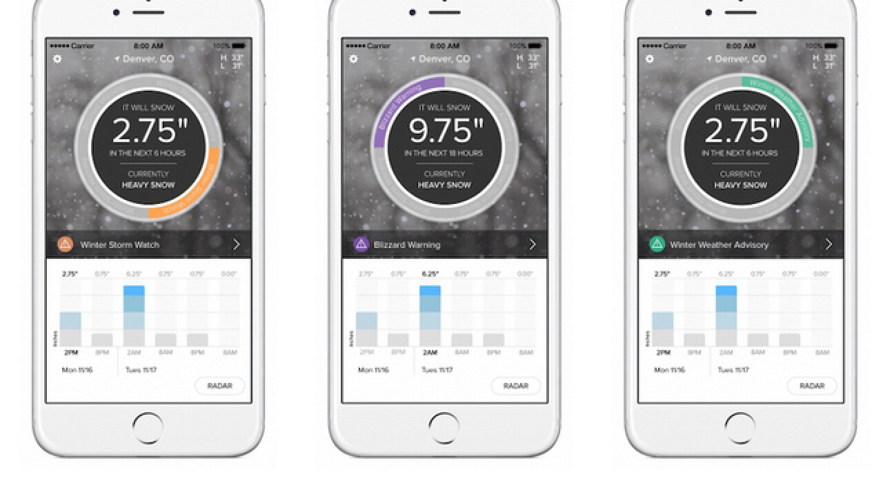 SnowCast app now available for iOS users