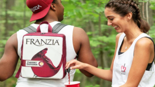 Backpack Holds An Entire Box Of Wine And Has A Pour Spout