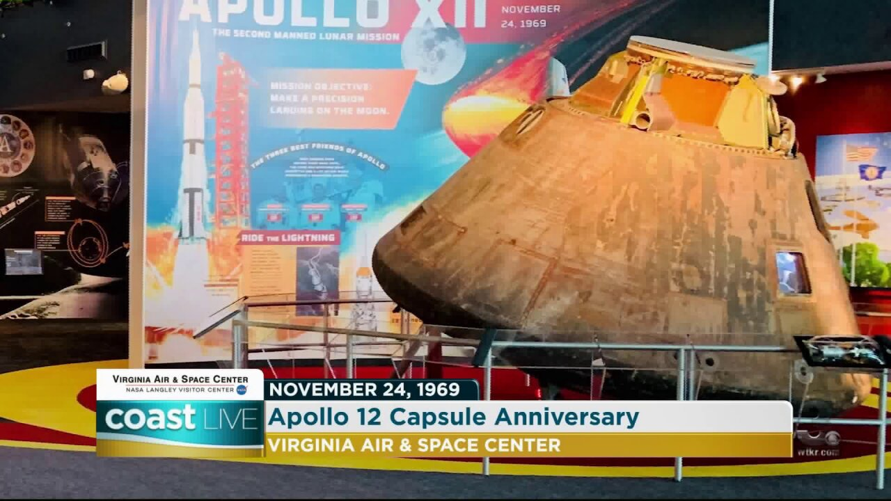 Celebrating the anniversary of the Apollo 12 Capsule moon landing on Coast Live