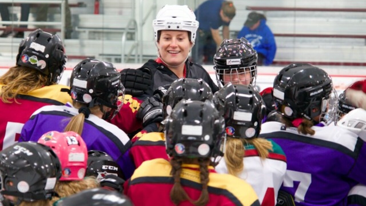 Coyotes, Olympic medalist team up to host the NHL's only all-girls hockey program