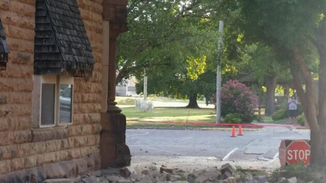 PHOTOS: Damage following Oklahoma earthquake