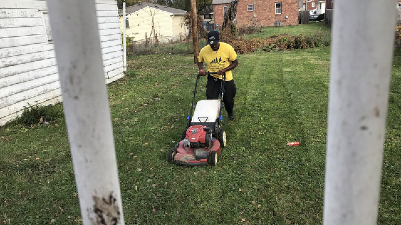Rodney Smith Jr. returns to mow lawns in Omaha