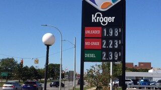 Gas prices dip below $2 at some stations