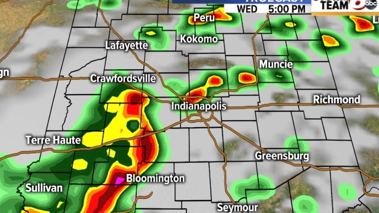 TIMELINE: When to expect severe weather today