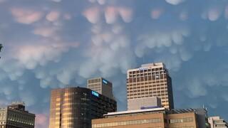 Mammatus Clouds over Downtown Tulsa
