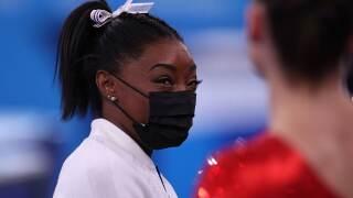 Simone Biles speaks on exit from women's team final