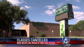 Classes at King High School were canceled on Friday
