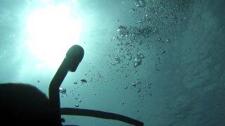 Scuba Diver Bubbles