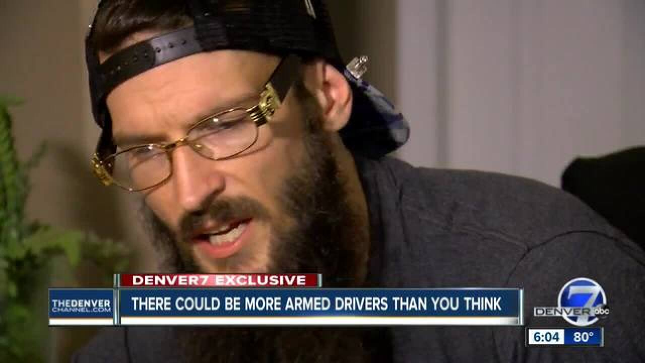 Man claims he was threatened by an Uber driver