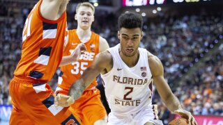 Florida State Seminoles guard Anthony Polite vs. Syracuse in February 2020
