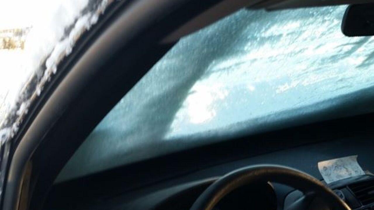 Douglas County snow on car 3