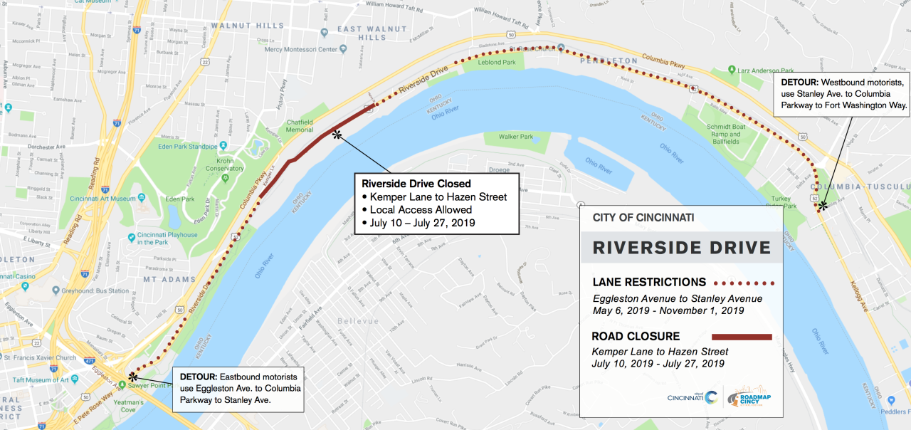 Riverside Driver Closure