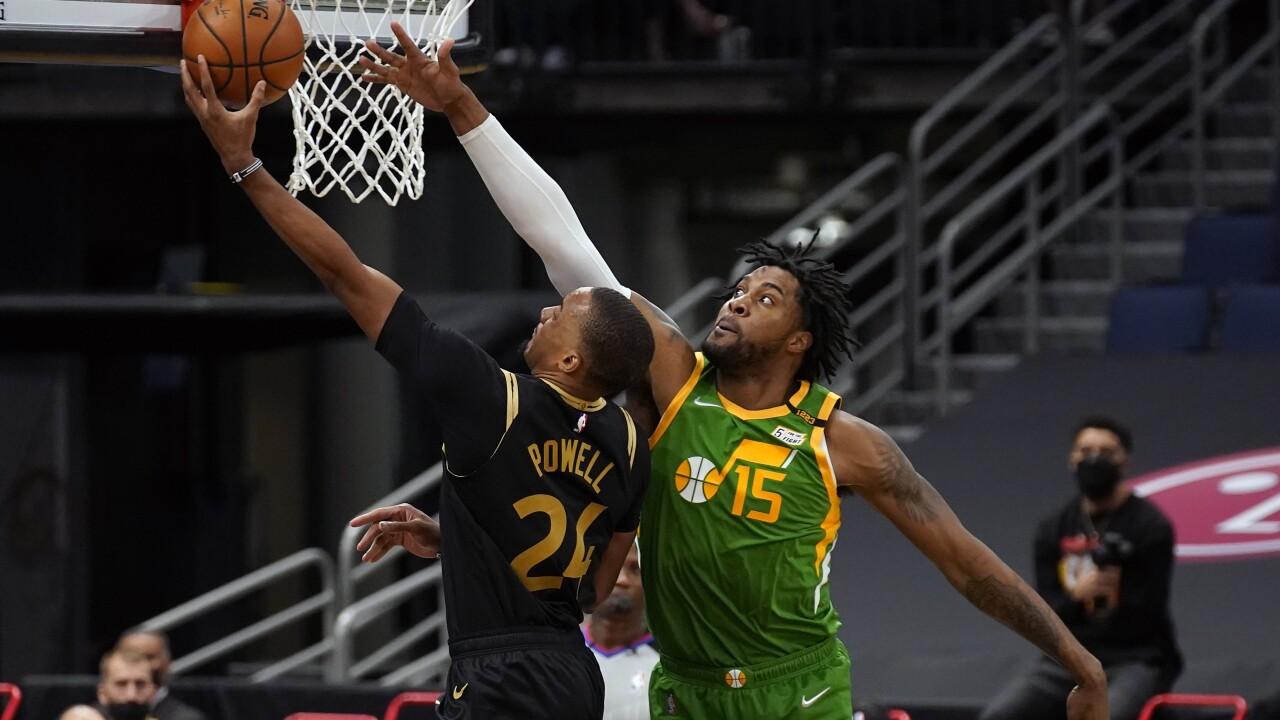 Jazz Raptors Basketball