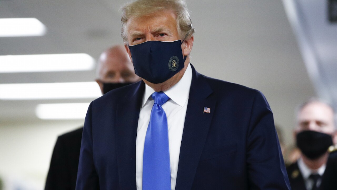 President Trump says wearing face masks is 'patriotic'