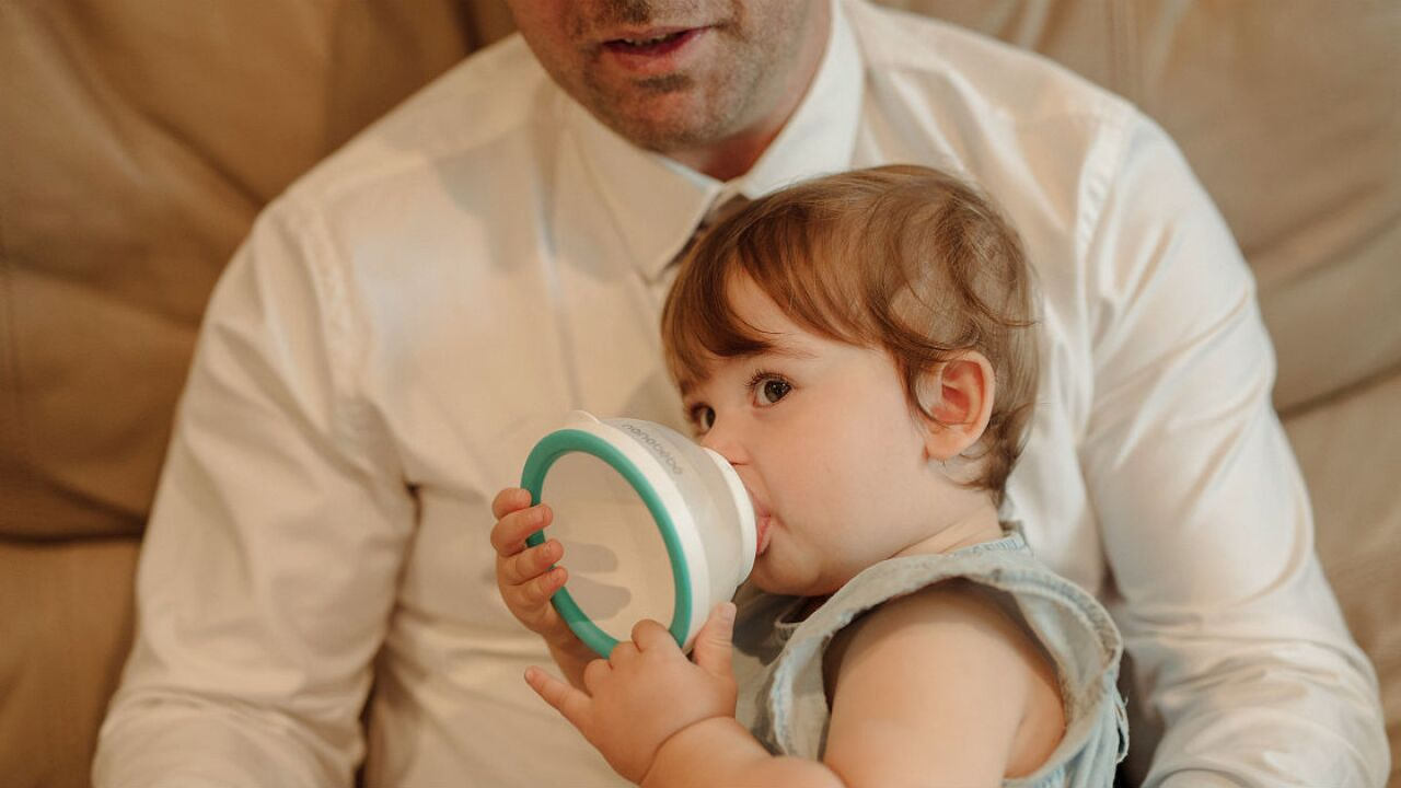 A tired dad and his hungry infant led to a radical new baby bottle