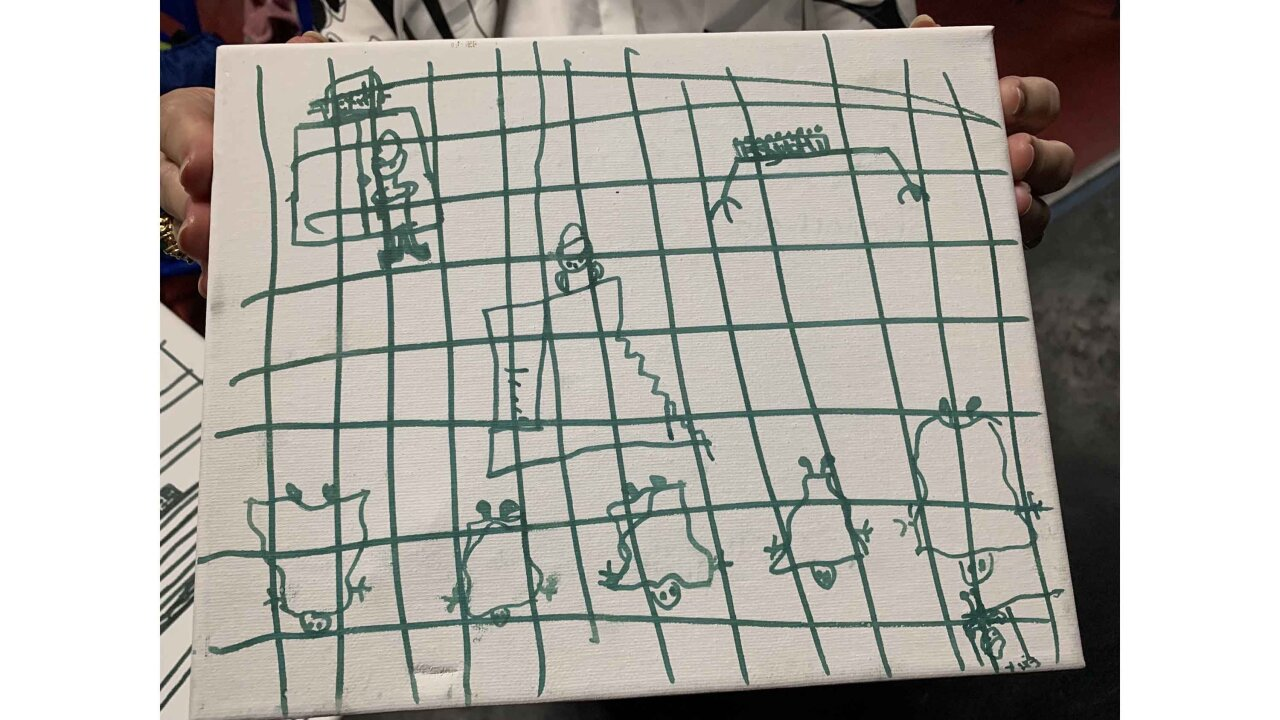 Migrant children's disturbing drawings of their time in US custody shared by pediatricians