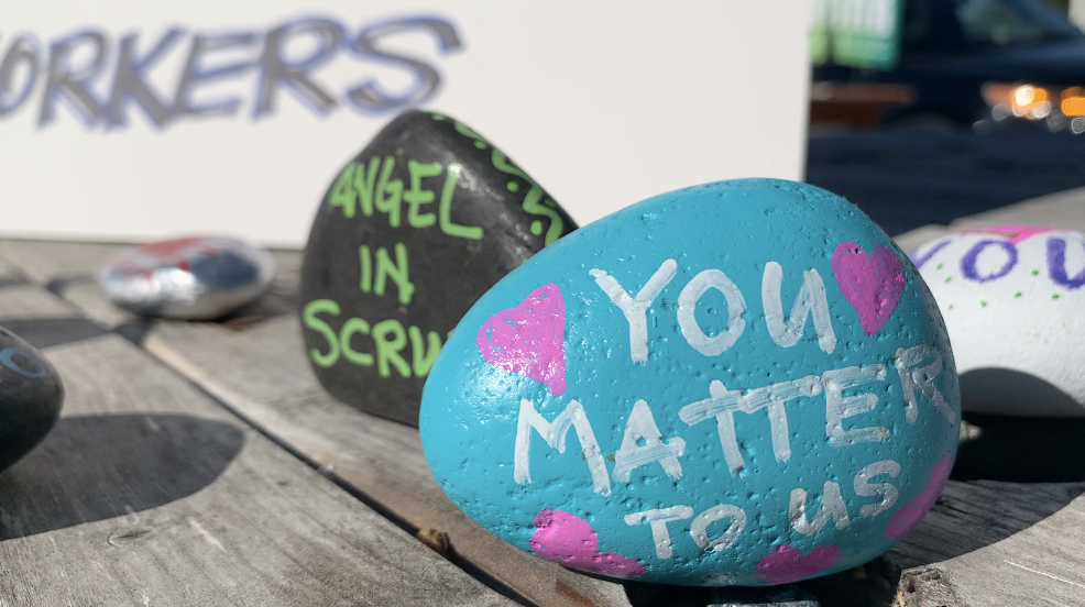 Rock painting for healthcare workers