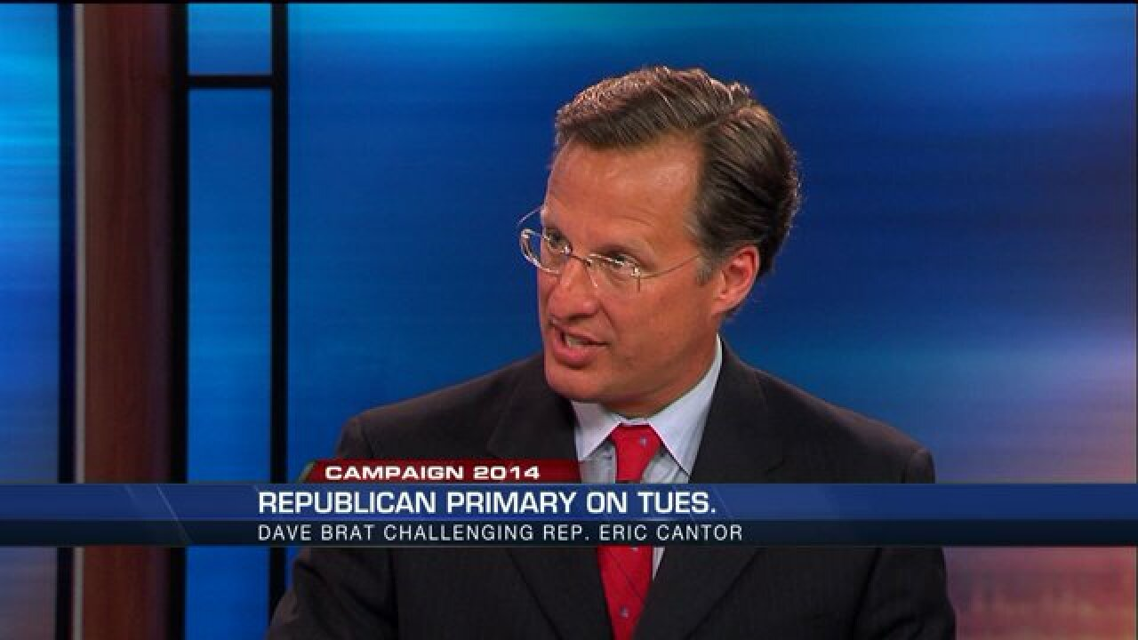 Dave Brat discusses why voters should choose him over EricCantor