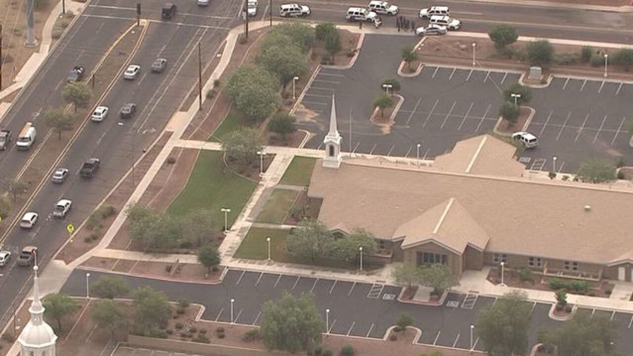Death investigation in front of Phoenix church