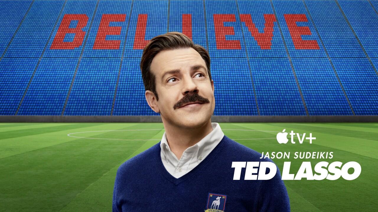 "Jason Sudeikis stars in ""Ted Lasso."" Photo via AP."