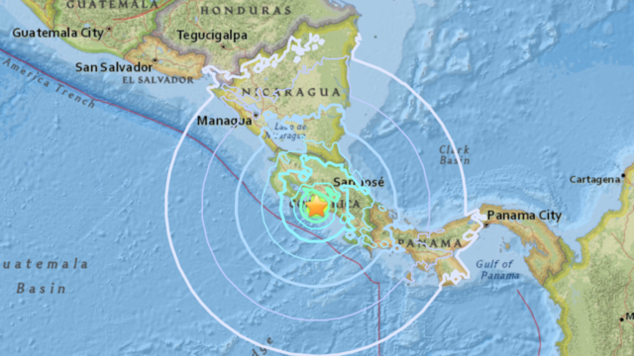 Costa Rica shakes with 6.5 earthquake