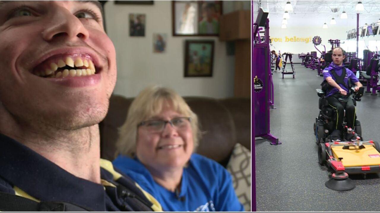 How Michael Whitten's smile helps Planet Fitnessshine