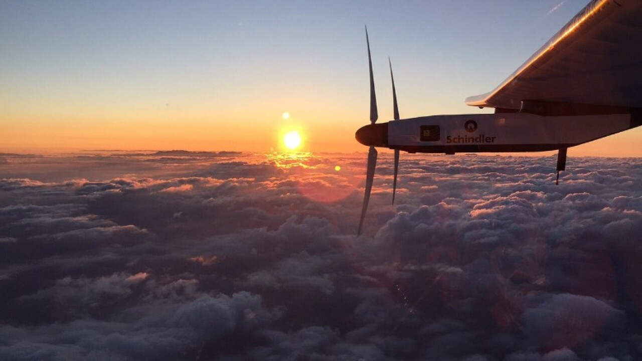 Solar plane lands in Hawaii, ending perilous leg of around-the-world journey