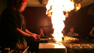 Hibachi grill 'explodes' at woman's birthday dinner, sets her on fire