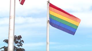 Lorain LGBTQ flag city hall