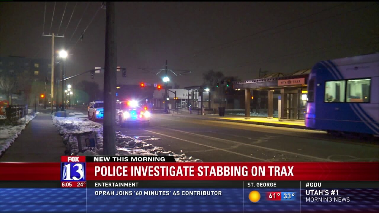 Man stabbed in fight on TRAX train