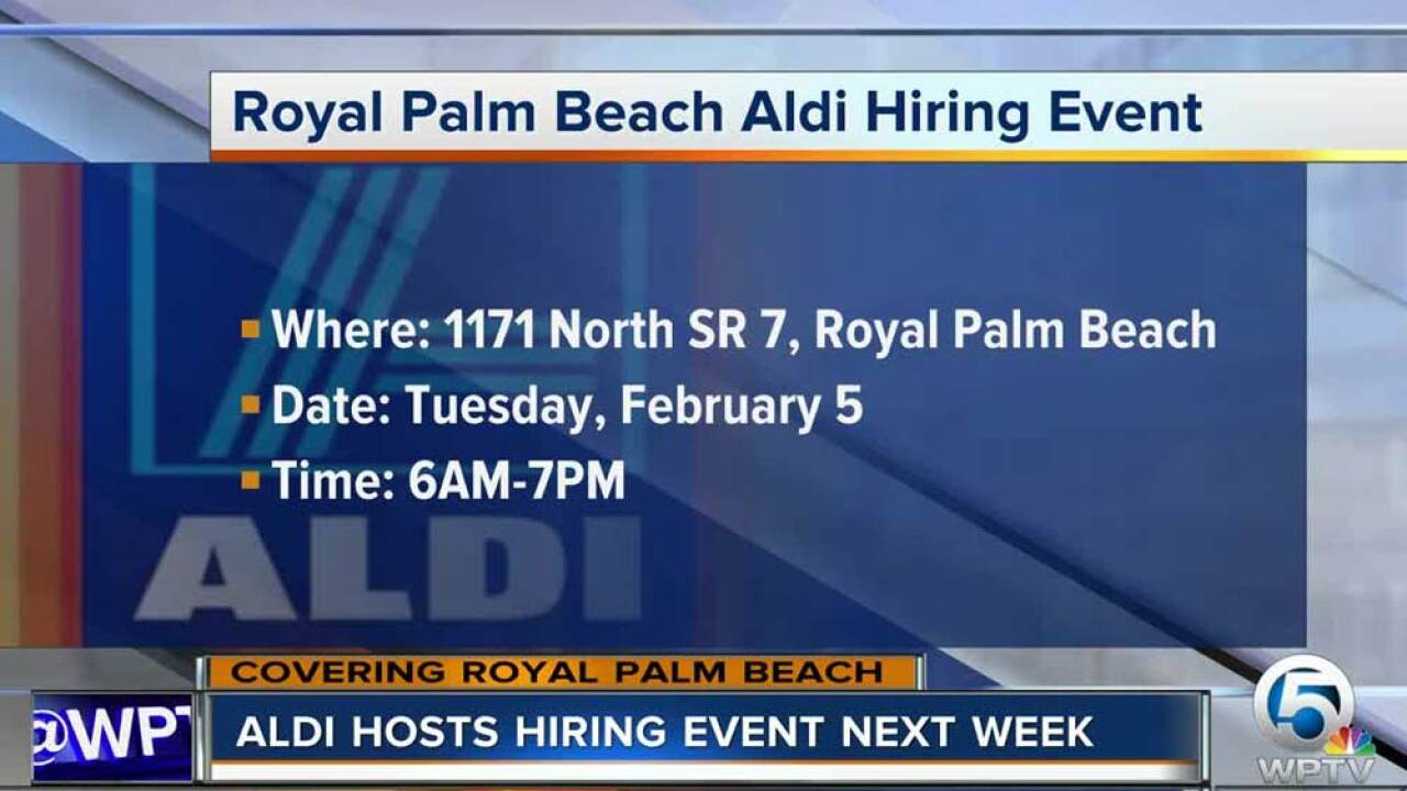 Aldi Holding Job Hiring Event In Royal Palm Beach On Feb 5