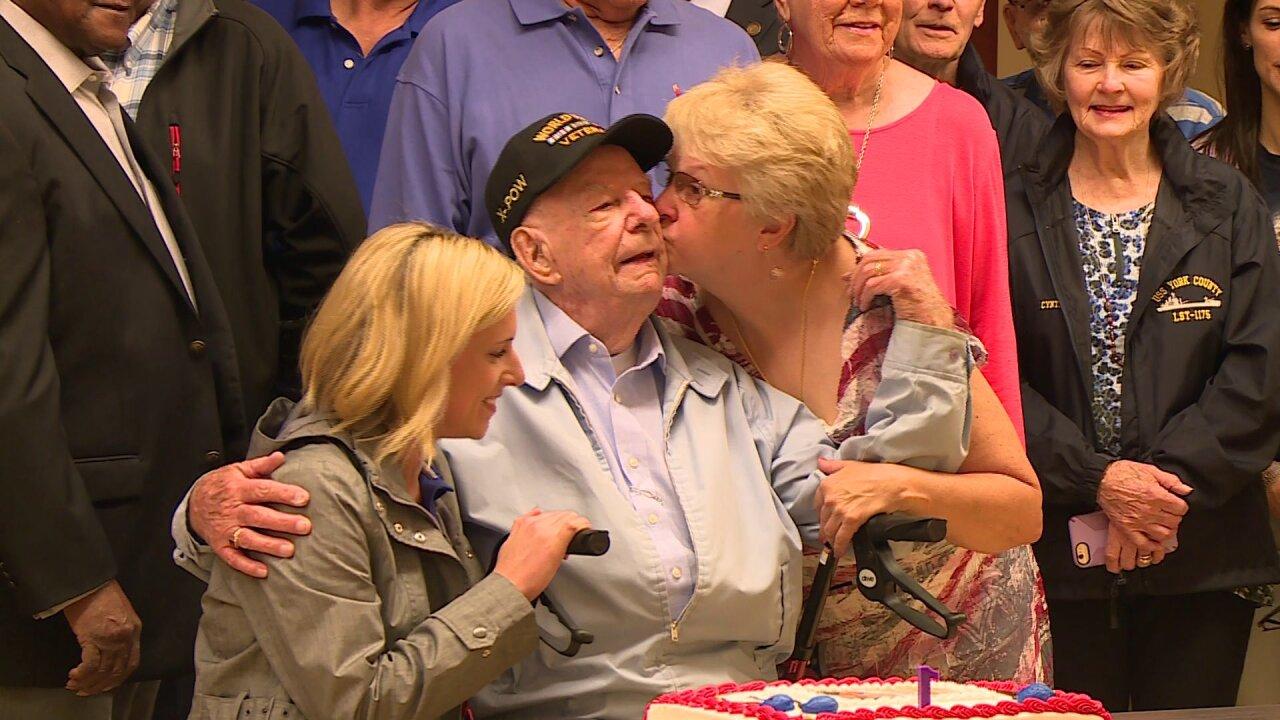 Beloved war hero celebrates his 99th birthday at the Virginia WarMemorial