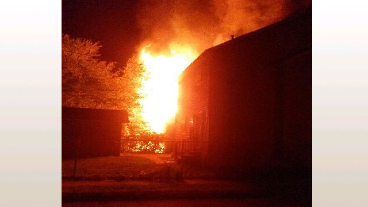 Sleeping residents escape early morning fires