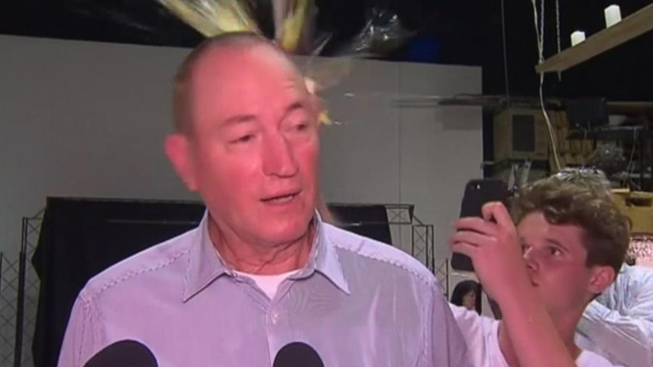 Sen. Fraser Anning egged in head