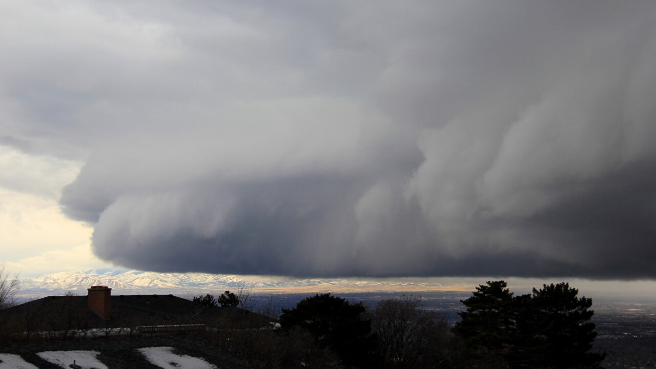 Photos: Storm moves over the Salt Lake Valley
