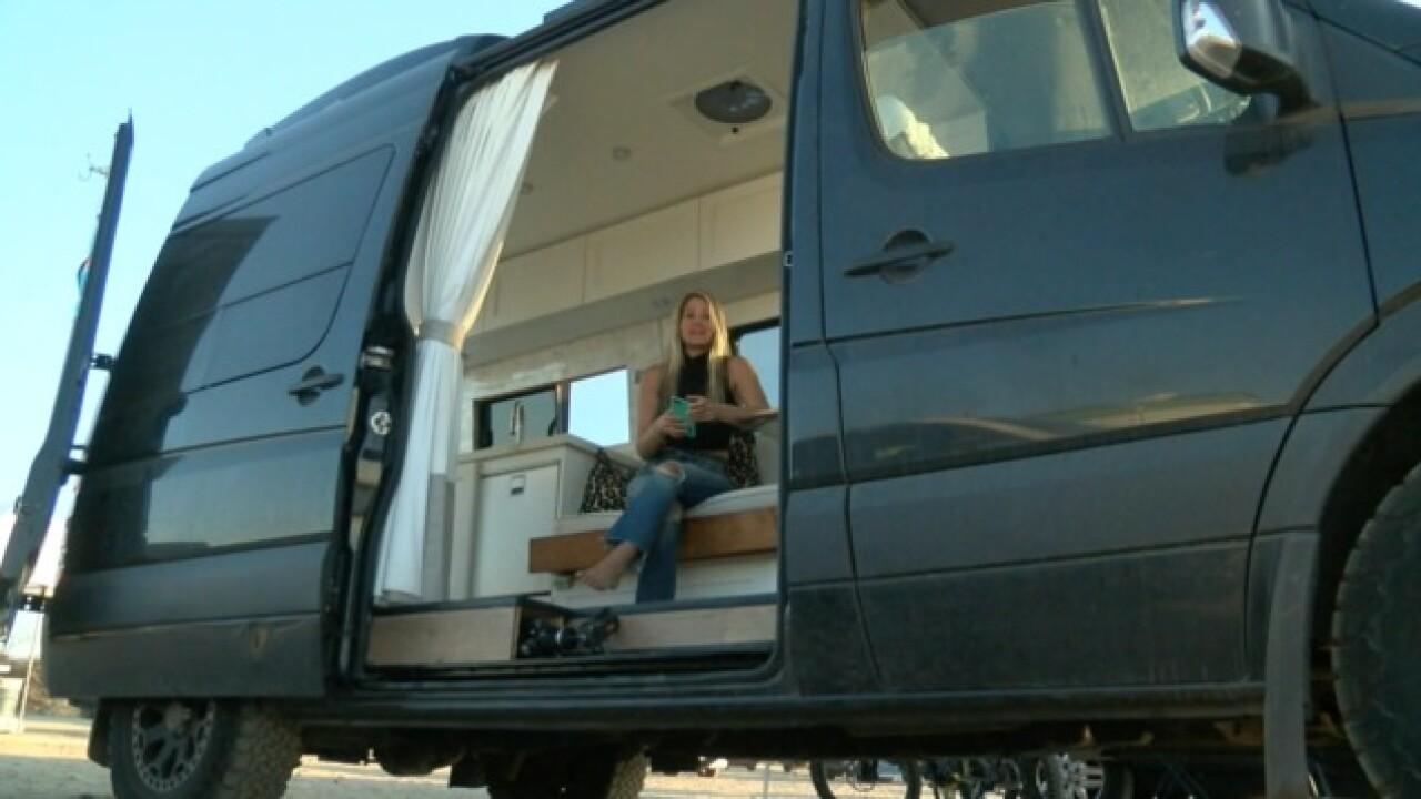 People converting vans to avoid high rent