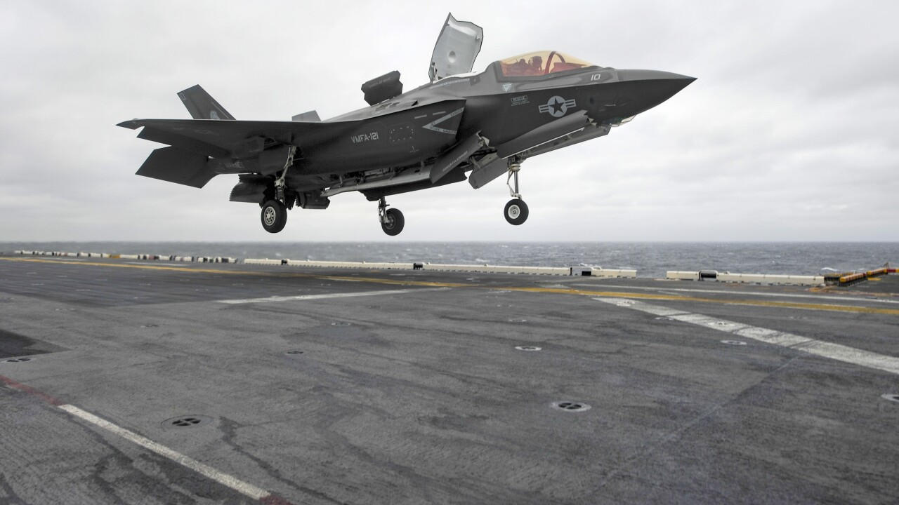 "Navy milestone: F-35B jet lands on the USS Wasp overseas launching a ""new era"""