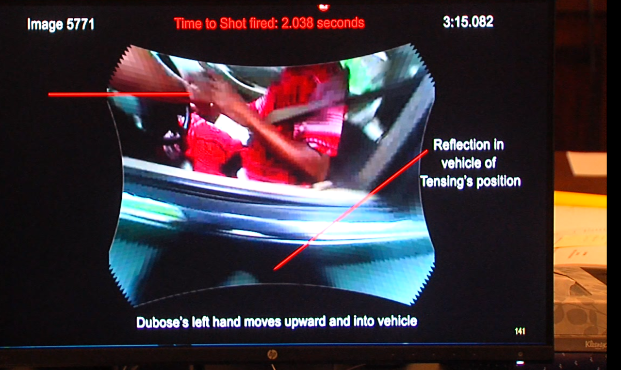 Screenshot of Tensing body camera recording
