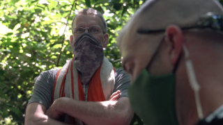 Homeless man, who has lived in woods for three years, now faces eviction