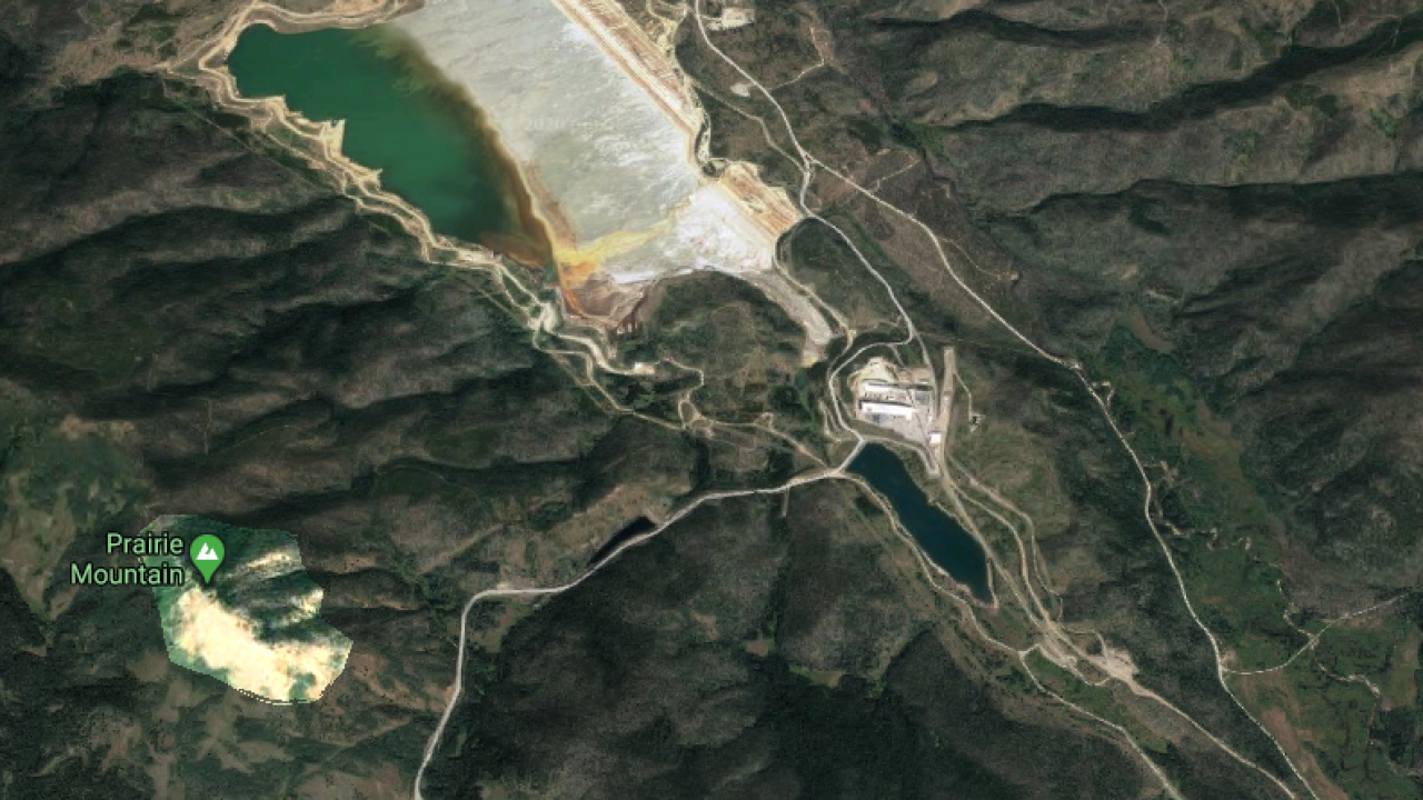 Area of Williams Fork Fire