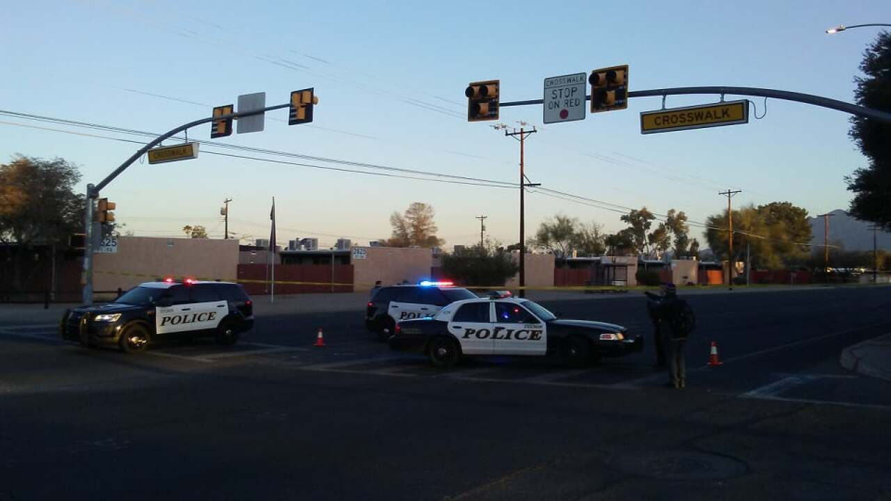 A woman was seriously injured in a wreck near Alvernon and Glenn Friday.